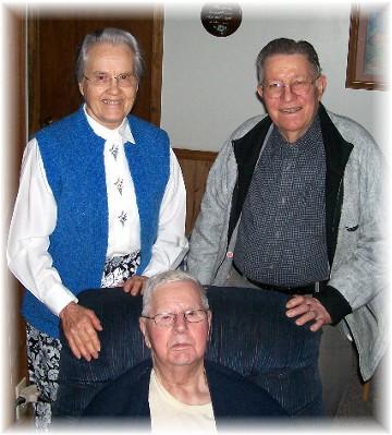 Raymond McGallicher with Jesse and Wilma Dourte 4/19/11