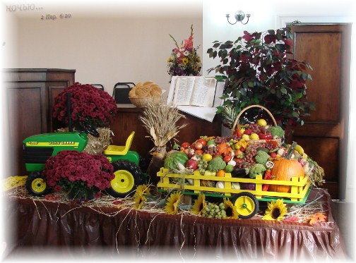Harvest display at Russian Church