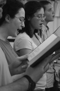 People singing hymns