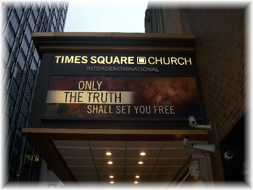 Entrance to Times Square Church