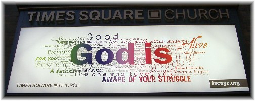 Times Square Church Sign