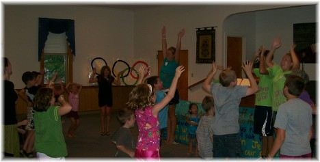 "VBS singing ""We Want To See Jesus LiftedHigh"""