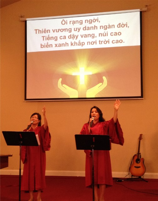 Vietnamese church service 6/29/14