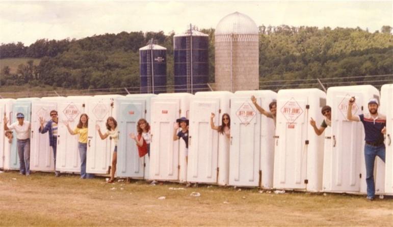 Porta-potties at Creation Festival (early 80's)