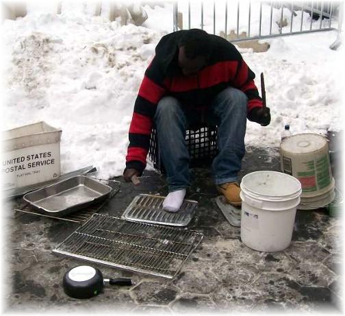 Central Park street drummer