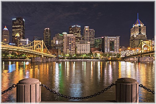 Pittsburgh skyline (photo by Howard Blichfeldt)