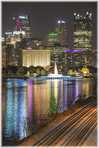Pittsburgh skyline at night (Photo by Howard Blichfeldt)