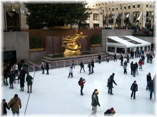 Ice skating at the Rockefeller Center rink 12/12/11
