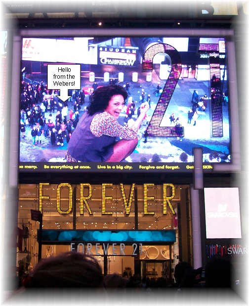 Times Square big screen
