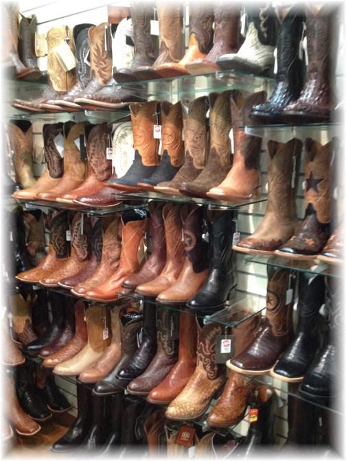 Cowboy boots, Bourne, Texas 5/5/14