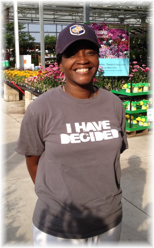 """I have decided"" t-shirt 7/8/14"