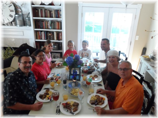 Beebe family breakfast 7/18/13