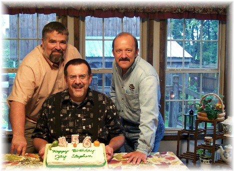 Stephen's birthday 2010 along with Jay and Doug