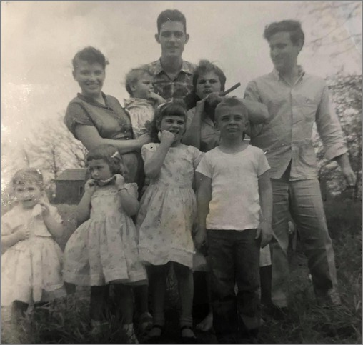 Brooksyne's family August 1957