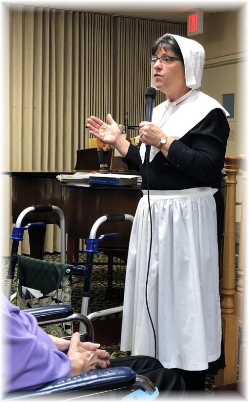 Brooksyne's Pilgrim presentation, Calvary Homes, Lancaster 2017