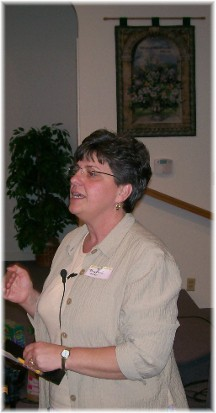 Brooksyne speaking at Ladies gathering 5/22/10