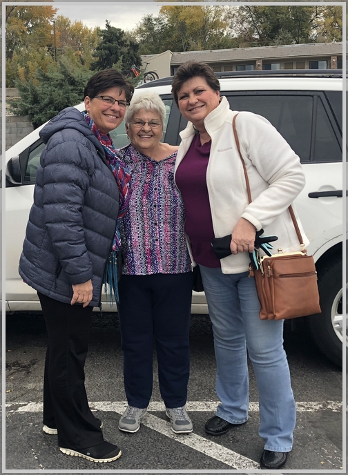 Brooksyne with sister Elaine and their Aunt Mary