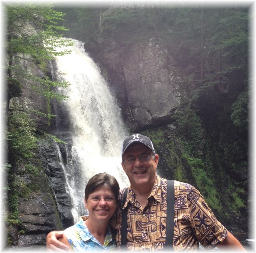 Photo of us at base of Bushkill Falls, Poconos, 5/21/15