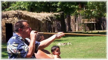 Stephen with Cherokee blowgun