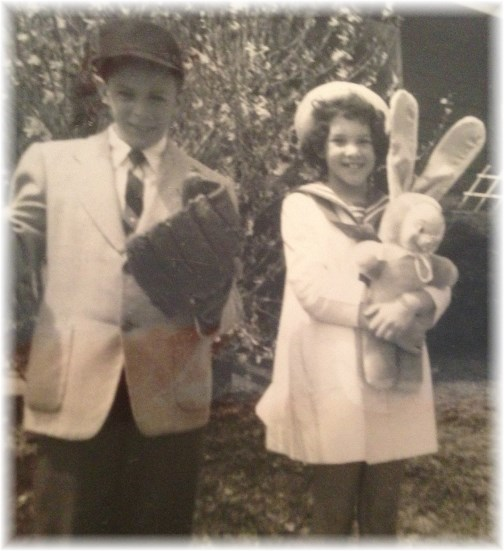Stephen and Genelle at Easter c1965