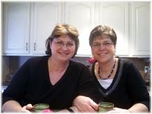 Brooksyne with sister Elaine, 2012