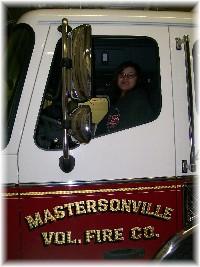 Ester in firetruck