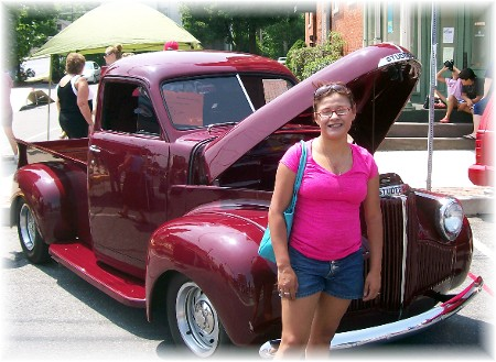 Ester with Studebaker pickup 7/25/09