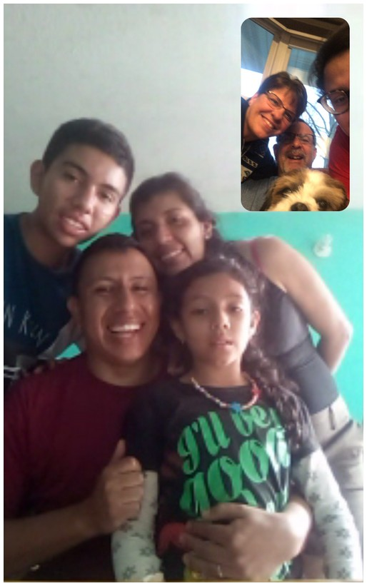Facetiming Marvin and family 3/28/20