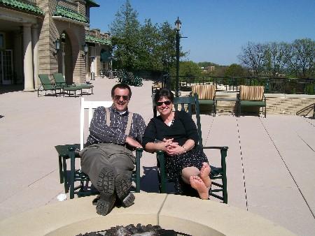 Stephen & Brooksyne Weber on the veranda of the Hotel Hershey 4/23/10