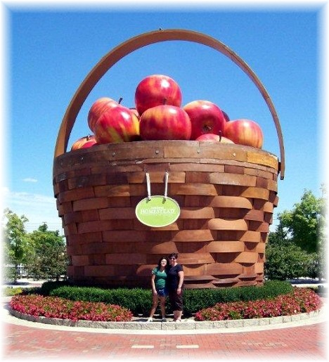 Apple basket at Longaberger Homestead