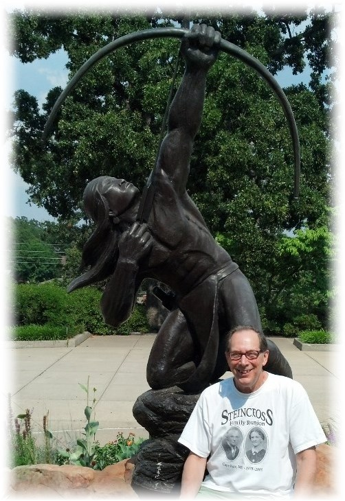 Mike at Gilcrease Museum Tulsa OK 7/14/13