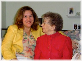 Mom with Genelle, Easter 2005