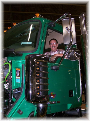 Brand new Mack truck