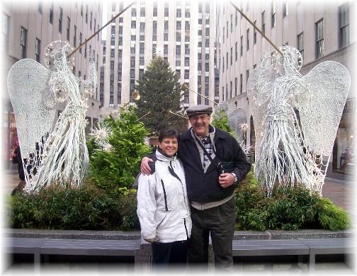 Stephen & Brooksyne in front of Rockefeller Center 12/12/11