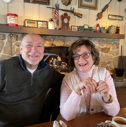 Pat and Laverne at Hamburg Crackerbarrel