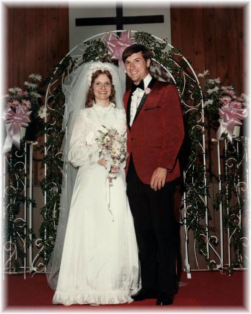 Pat and Laverne Weber wedding photo