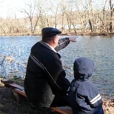 Pat Weber with grandson Noah