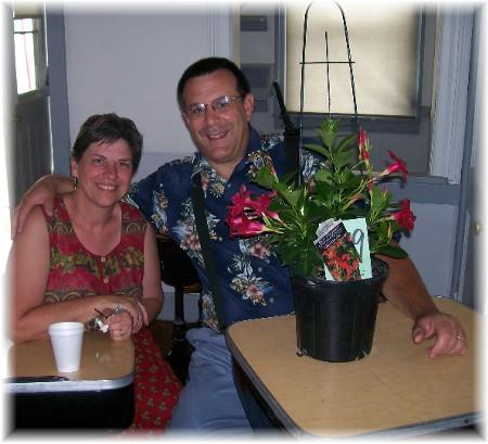 Stephen & Brooksyne Weber in one room schoolhouse