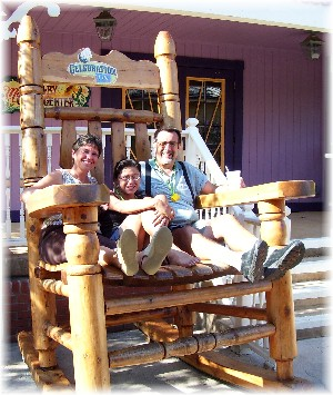 Rocking chair at Celebration City Branson