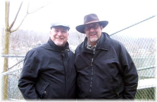 Pat and Stephen Weber along Lehigh River 1/1/13