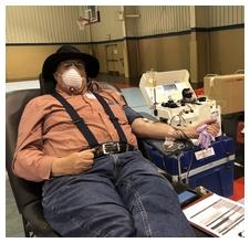 Stephen donating blood 4/25/20