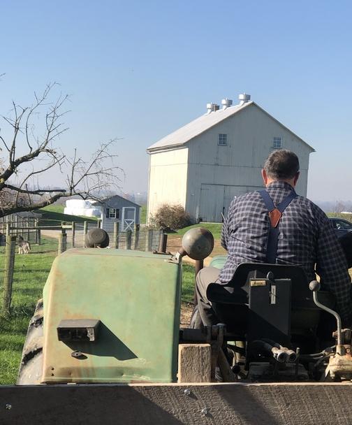 Stephen on tractor