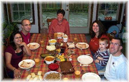 2009 Weber Thanksgiving Meal