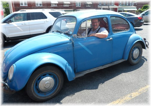 Stephen in 67 VW beetle