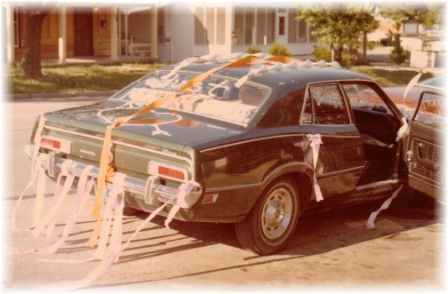 Wedding reception 5/8/76