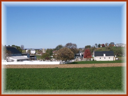 Amish countryside in eastern Lancaster County, PA