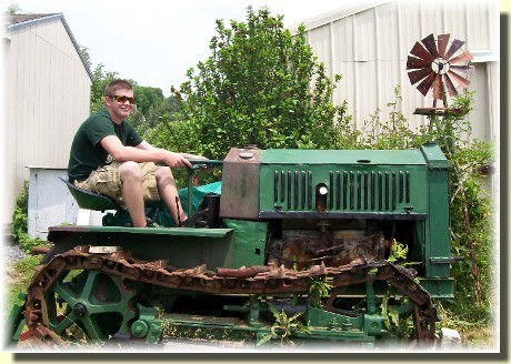 Antique Cletrac tractor