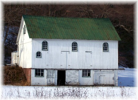 Bank barn in Berks County PA