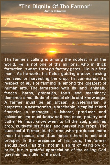 The Dignity Of The Farmer
