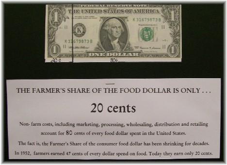 Farm share of income display at Manheim farmshow
